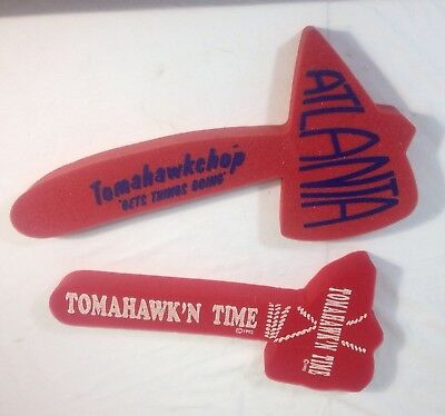 Lot Of (2) Vintage Atlanta Braves Foam Tomahawks 1992