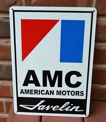 AMC JAVELIN American Motors Racing AMX Sign  Service Mechanic Garage Ad  10DAY