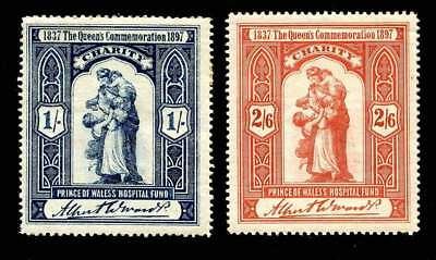 GB - 1897 Prince of Wales Hospital Fund - Set of 2