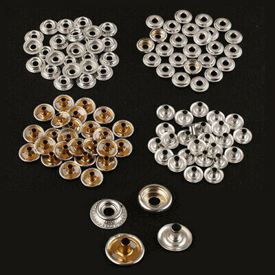 100pcs Stainless Steel Fastener Snap Press Stud Cap Button Boat Canvas 25 Sets