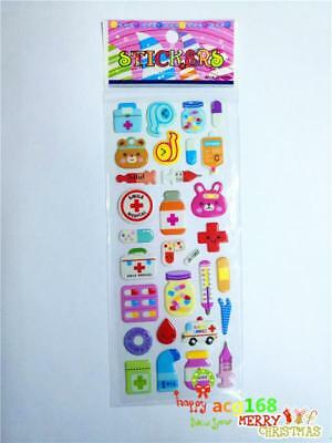 Cartoon Stickers Doll Craft Xmas Bear 1pc Kid Party Scarpbooking Toy Stick Gifts