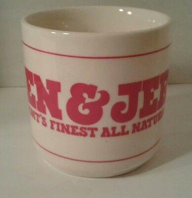 Vintage BEN & JERRY'S Vermont's Finest All Natural Ice Cream Coffee Mug Tea Cup