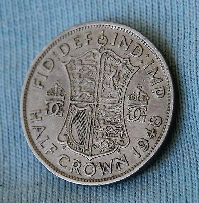 1948 UK Half Crown average circulated condition highly collectible