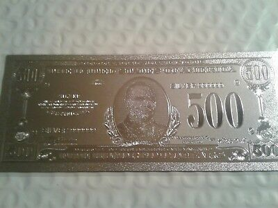United States Currency Silver $500 Bill UNCIRULATED Collectible