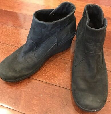 Keen Designer Leather Ankle Boots Wedge Heel Stunning Very Comfy Shoes Size 38.5