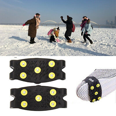 Anti-Slip Snow Shoe Ice Grippers For Shoes Boots Safety Soles Overshoe Grip Work