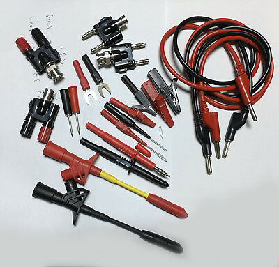 set car Test Hook Clips BNC plug Insulated Piercing Cables Multimeter Test Probe