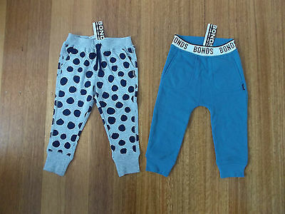 BRAND NEW WITH TAGS! 2 x BONDS Kids Track Pants Size 2 Total RRP$45.90