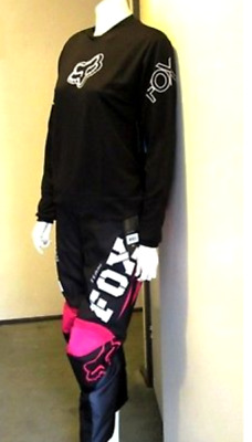 FOX female motocross pants & jersey combo NEW Pink #1/2 #26 /Sm Girls Ladies MX