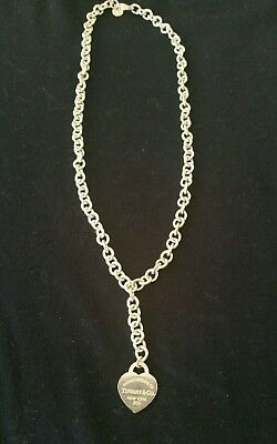 Original Tiffany & Co Silver Necklace with Pendant Brand New