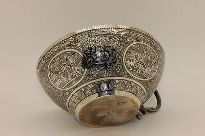 Antique Original Silver Ottoman Amazing Silver Armenian Bowl