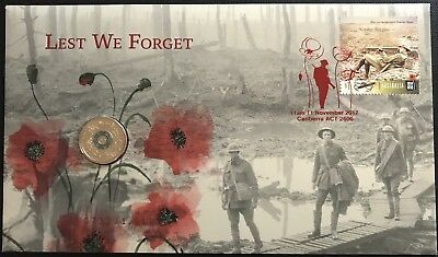 Australia 2017 $2 Remembrance Day Lest We Forget PNC 733/ 1111 Ballot Only