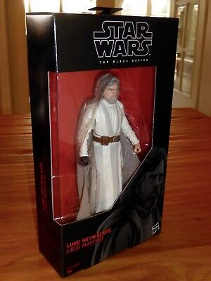 "STAR WARS THE BLACK SERIES #46 LUKE SKYWALKER JEDI MASTER 6"" inch 15cm LAST OVP"