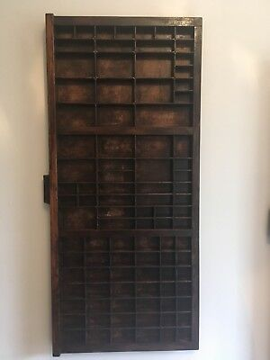 Vintage Letterpress Printers Tray Drawer - F1