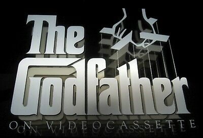 VINTAGE Godfather Lighted Infinity Advertising Mirror Display 1991 WORKS GREAT!!