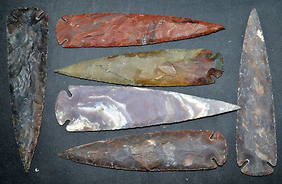 "*** 7"" Flint Spearhead Arrowhead OH Collection Project Points Knife Blade ***"