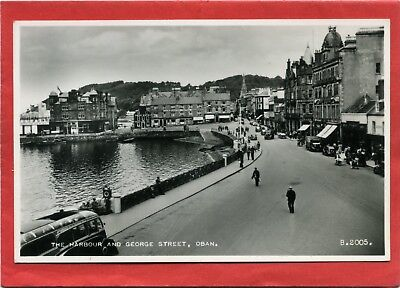 Real Photo Postcard, The Harbour & George Street, Oban, Argyllshire