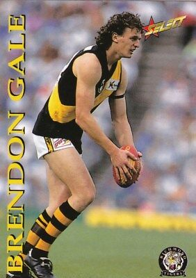 AFL 1995 Richmond Tigers - Brendon Gale Card No.130 of 250