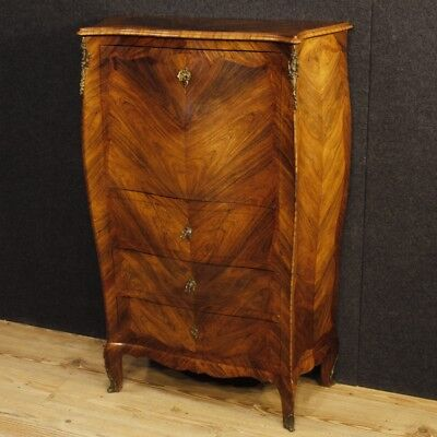 Secrétaire wood furniture bar italian fore secretary desk cupboard antique style