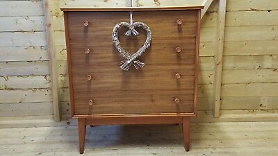 STUNNING MID CENTURY WALNUT CHEST OF DRAWERS BY ALFRED COX FOR HEALS 1960's