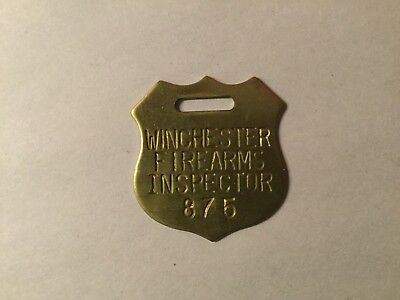 Vintage Winchester Firearms Inspector Badge