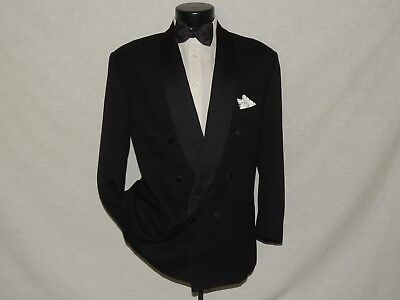Ermenegildo Zegna men's Double Breasted formal tuxedo suit coat pant 42 S
