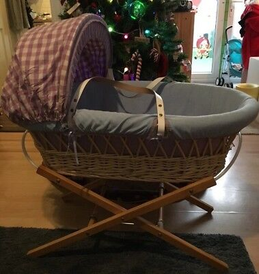 John Lewis Pastels Moses Basket And Stand
