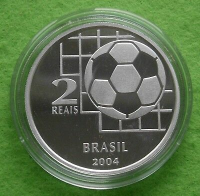 BRAZIL 2 Reais 2004 Proof