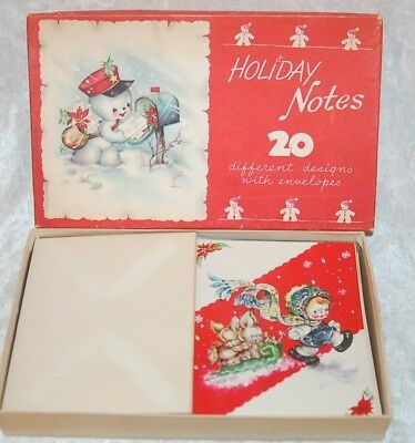 LOT of 20  VINTAGE / ANTIQUE CHRISTMAS HOLIDAY NOTE CARDS