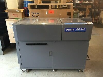 Duplo 645  SCC, Slitter, Cutter, Creaser, Business Card Module included