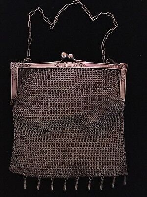 German Silver, Leather Lined Evening Bag dating from around 1901.