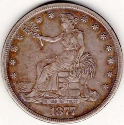 Silver US Trade Dollar 1877-S (TD77S)