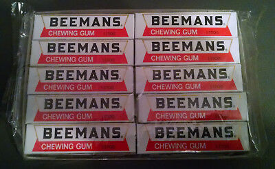Beemans gum 20, 5 stick packs in a factory sealed display box DISPLAY ONLY
