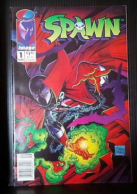 SPAWN #1!NEWSSTAND VARIANT LOW PRINT RUN rare and hard to find vg+