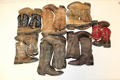 Ariat and Justin Cowboy USED REHAB Lot Boots Wholesale Mixed Sizes bSsJ
