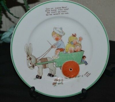 Shelley Mabel Lucie Attwell Nursery Tea Plate - Gee Up, Good Ned