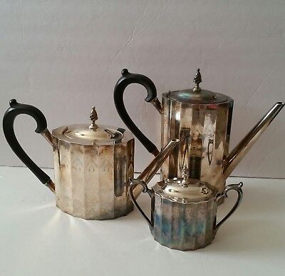 Lunt Silversmiths Paul Revere Tea Coffee Pots Sugar Service Sterling Silver