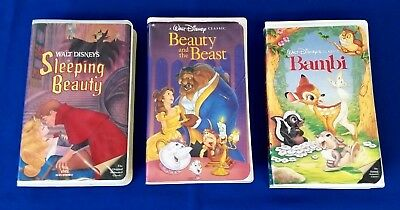 Collectable Lot of 3 Original Walt Disney Black Diamond The Classics VHS Tapes
