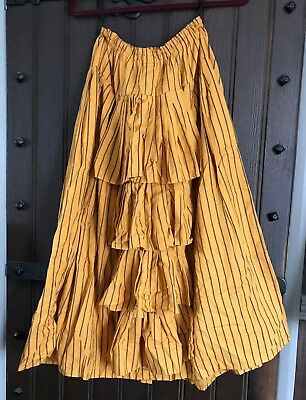 Victorian Steampunk Bustle Skirt Size 8/10 Pirate Wench Ruffle Back Vintage