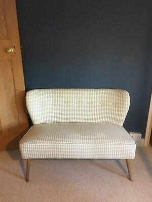 Mid Century Modern Loveseat Sofa Houndstooth Hardly Used