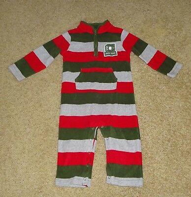 Nwot Red, Gray & Olive Green One Piece Romper From Carters Size 24 Months