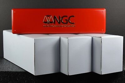 NGC Red Storage Boxes - 3 Boxes - Each holds 20 NGC Slabs - New Boxes