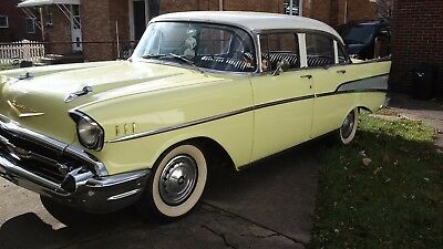 1957 Chevrolet Bel Air/150/210 Belair 1957 Chevy Belair 4dr Beautiful Condition.NO RUST ever !..63,000 miles 1955 1956