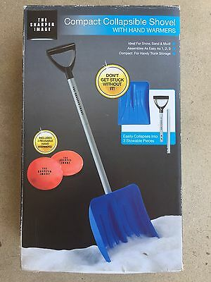 New The Sharper Image Compact Collapsible Shovel for Snow, Sand, & Mud 3 Pieces