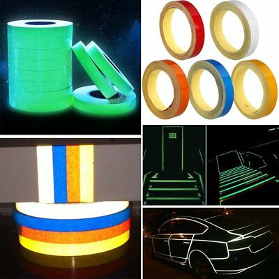 Car Reflective Strip Night Safety Warning Conspicuity Tape Sticker DIY 1CMx5M