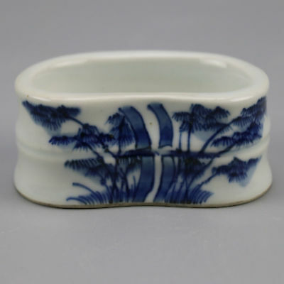 China old  porcelain Blue & white bamboo pattern writing brush washer