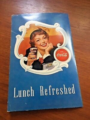 Coca Cola 1950s Diner Soda Fountain Lunch Menu Lighthouse Paper
