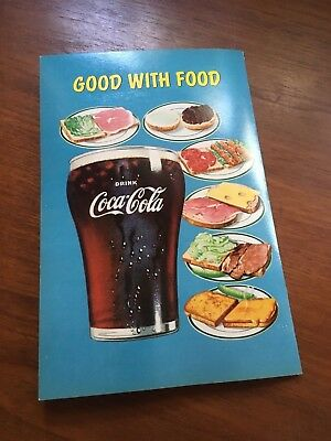 Coca Cola 1950s Diner Soda Fountain Lunch Menu Brook Bell Shaped Glass Paper