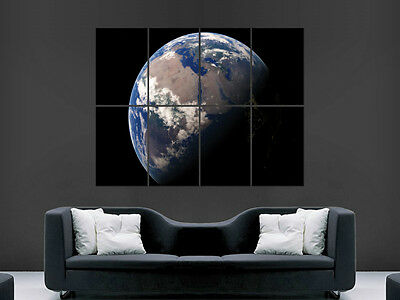 Planet Earth From Space Poster Wall Art Print Picture Giant Image Huge