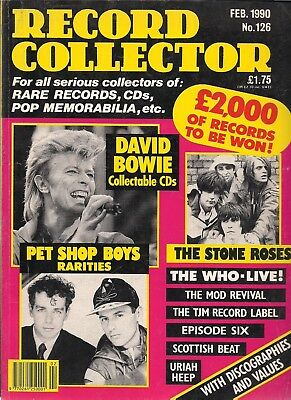 Record Collector  #126  February 1990   David Bowie, Stone Roses, Who,